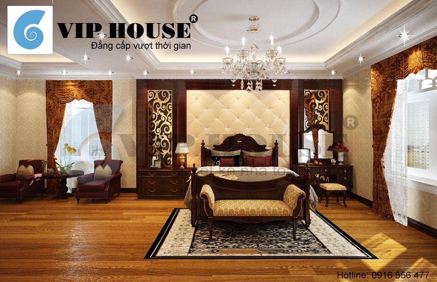 Các mẫu nội thất phòng ngủ biệt thự Pháp đẹp lung linh và lãng mạn