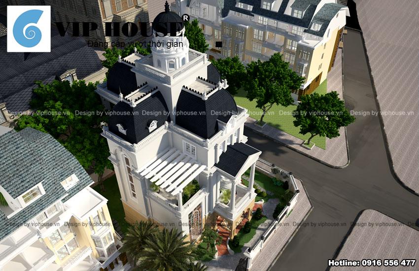 Thiết kế  biệt thự Pháp trên đất 2 mặt tiền
