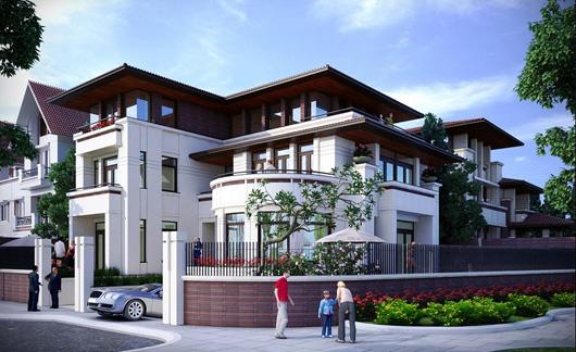 Thiết kế nhà biệt thự 3 tầng 2 mặt tiền