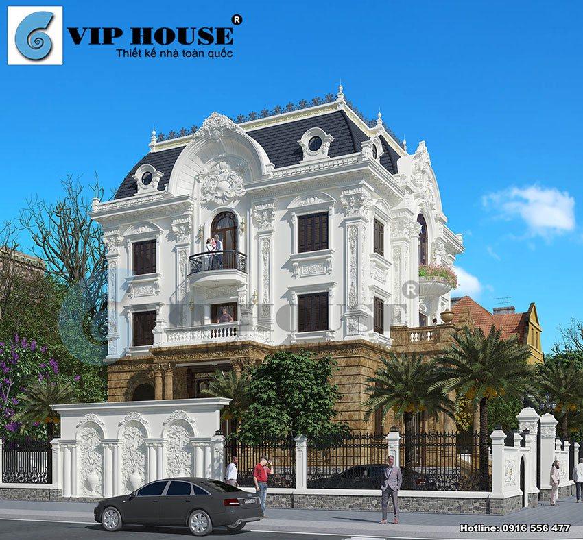 Tư vấn xây biệt thự 3 tầng theo kiến trúc Pháp?