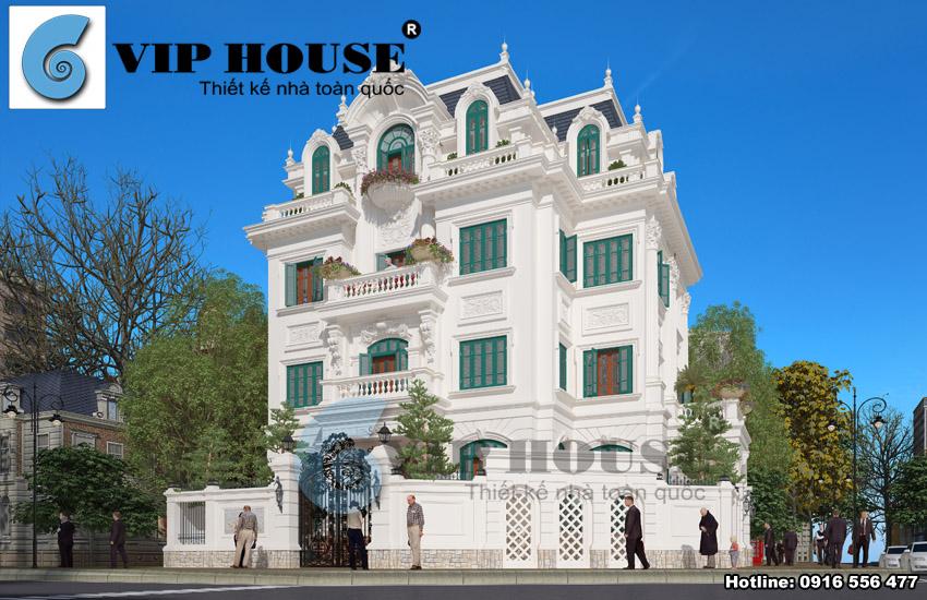 Biệt thự kiểu Pháp 2 mặt tiền tinh tế tại Hà Nội