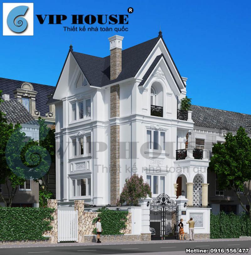 Cải tạo biệt thự kiểu Pháp với 2 mặt tiền sang trọng