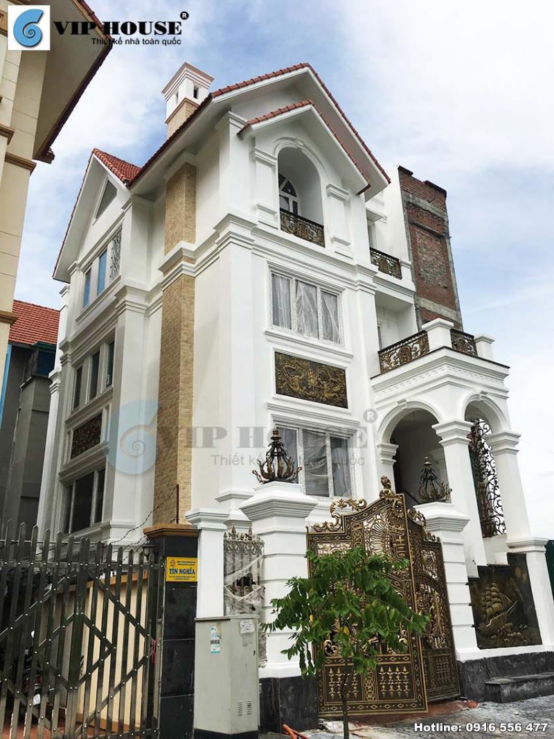 Cải tạo biệt thự kiểu Pháp 4 tầng 2 mặt tiền tại Hà Nội hiện lên ấn tượng và độc đáo