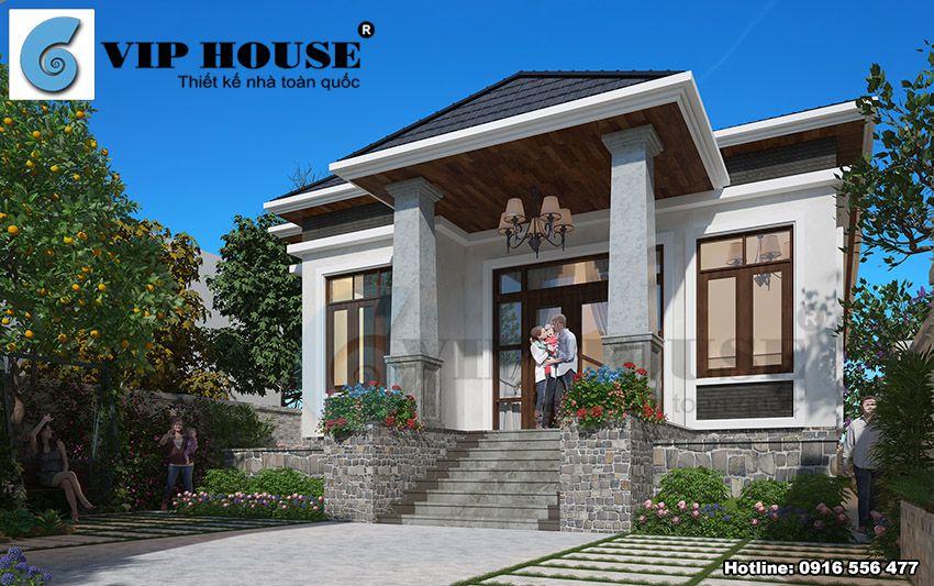 Cửa chất liệu gỗ kính bền chắc mà rất thuận lợi cho việc lấy sáng đón gió tự nhiên vào trong nhà.
