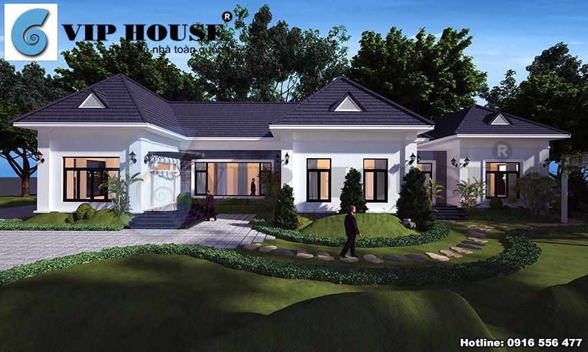 Thiết kế nhà vườn hiện đại 1 tầng - không gian sống thoải mái và hợp lý