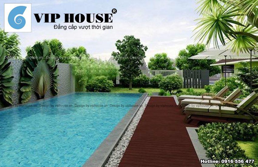 Nhà vườn 2 tầng có bể bơi