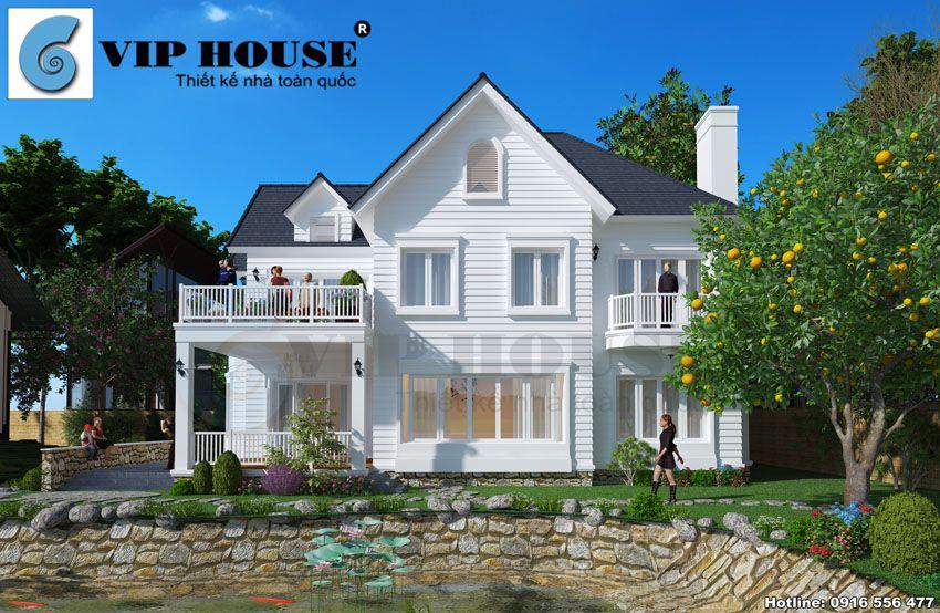Mặt bên ngôi nhà với nét đẹp đặc trưng nhất