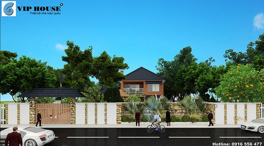 Thiết kế biệt thự nhà vườn tại Thạch Thất – Hà Nội