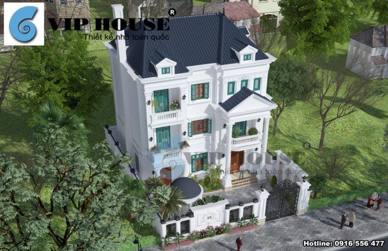 Thiết kế biệt thự tân cổ điển Pháp 3 tầng tại Ninh Bình