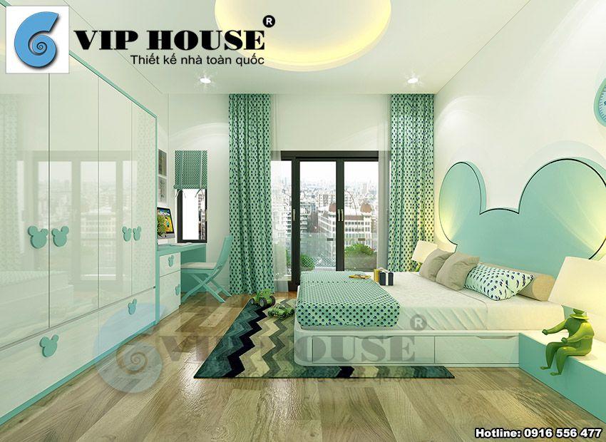 Phòng ngủ con gái hiện đại, tinh tế, nhẹ nhàng