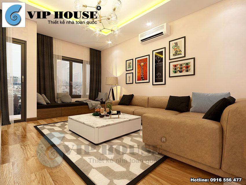 Thiết kế nội thất nhà phố 4 tầng hiện đại tại Bắc Ninh