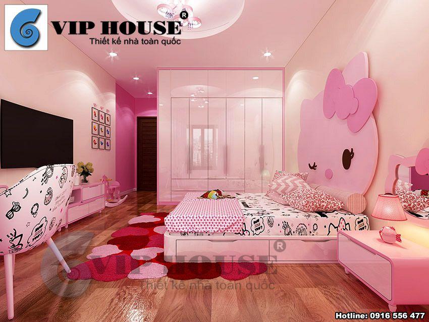 Phòng ngủ con gái ngọt ngào, ấm cúng