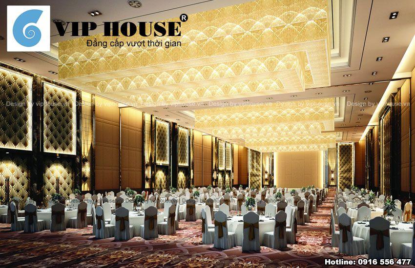 Không gian hội trường dành cho các buổi tổ chức hội nghị hoặc tiệc cưới đông người