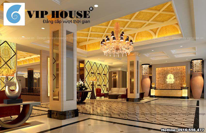 Thiết kế nội thất nhà hàng đẹp kiểu Châu Âu -  Sảnh đón tiếp