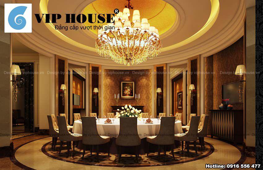 Thiết kế nội thất nhà hàng đẹp kiểu Châu Âu