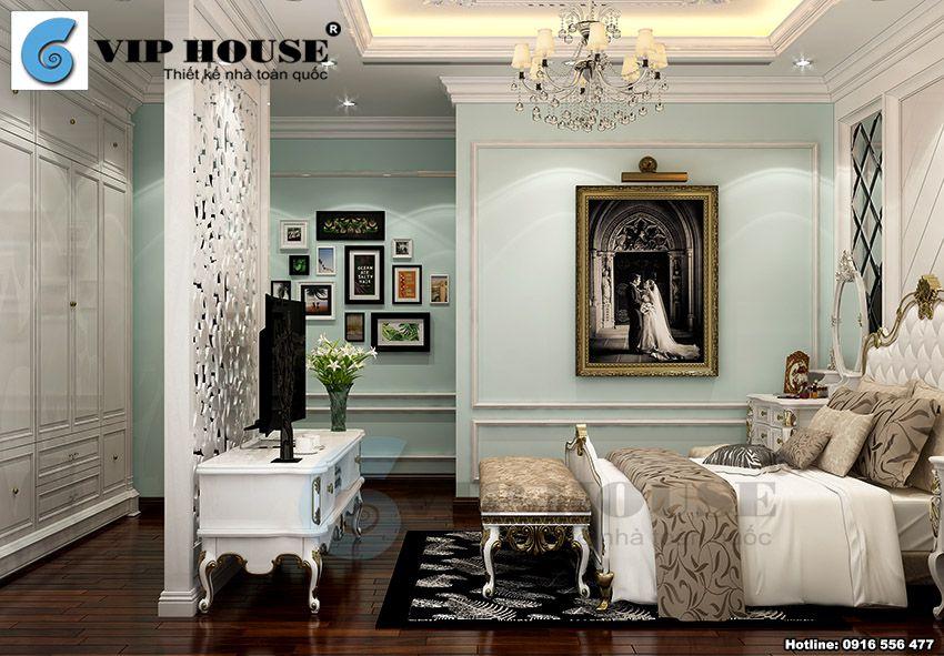 Thiết kế nội thất tân cổ điển phòng ngủ con gái tầng 3