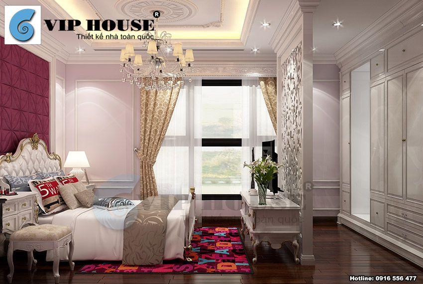 Thiết kế nội thất tân cổ điển phòng ngủ con gái tầng 2