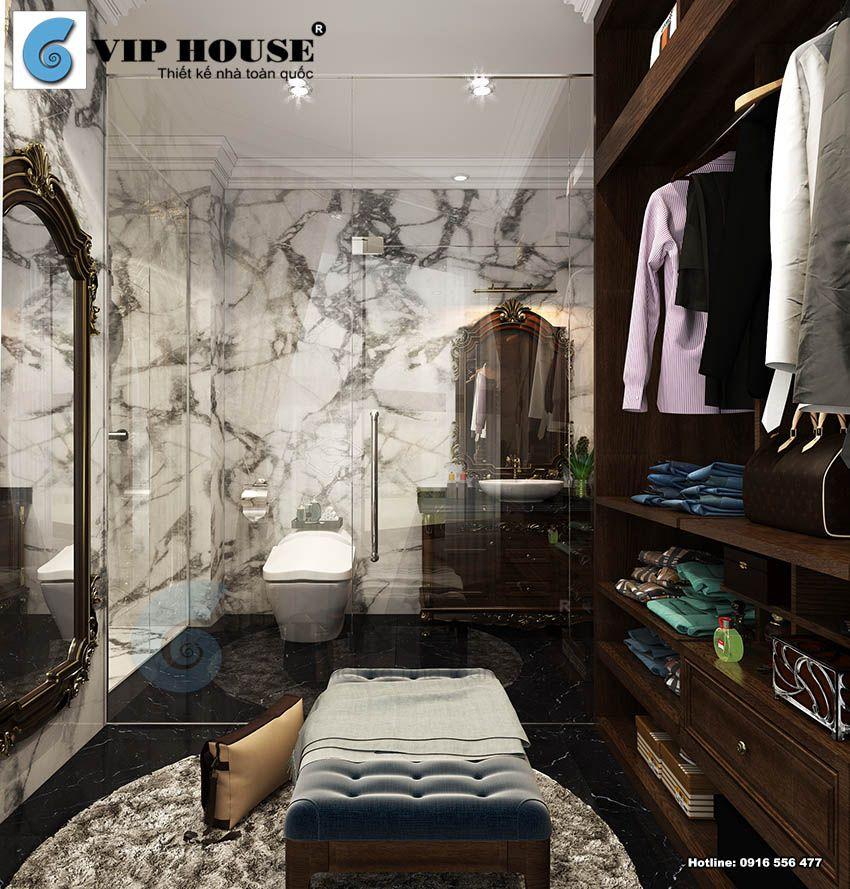Nội thất tân cổ điển nhà phố 4 tầng tại Mỹ Đình – Hà Nội