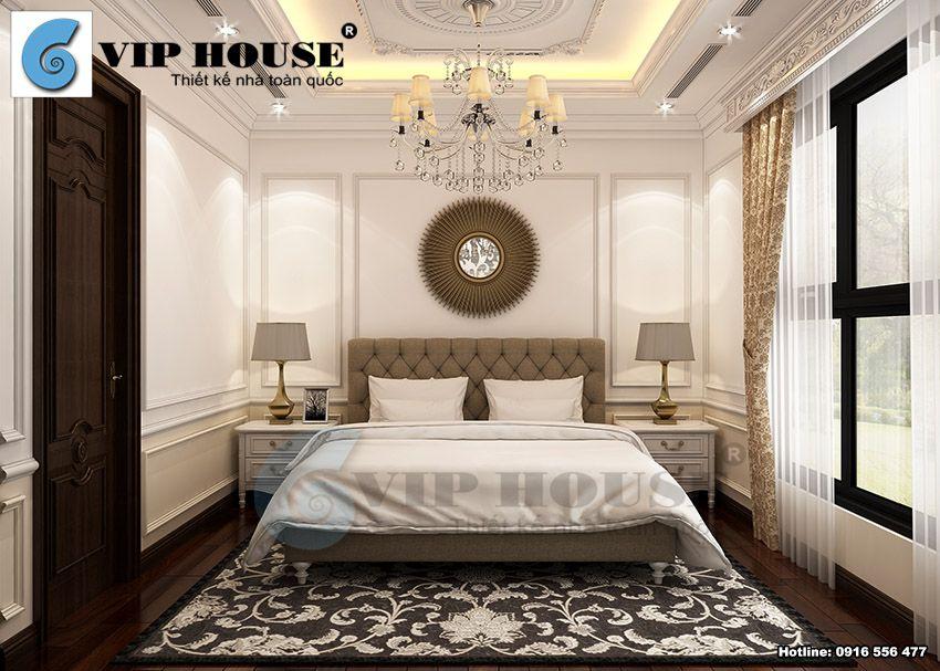 Thiết kế nội thất tân cổ điển phòng ngủ con trai tầng 3