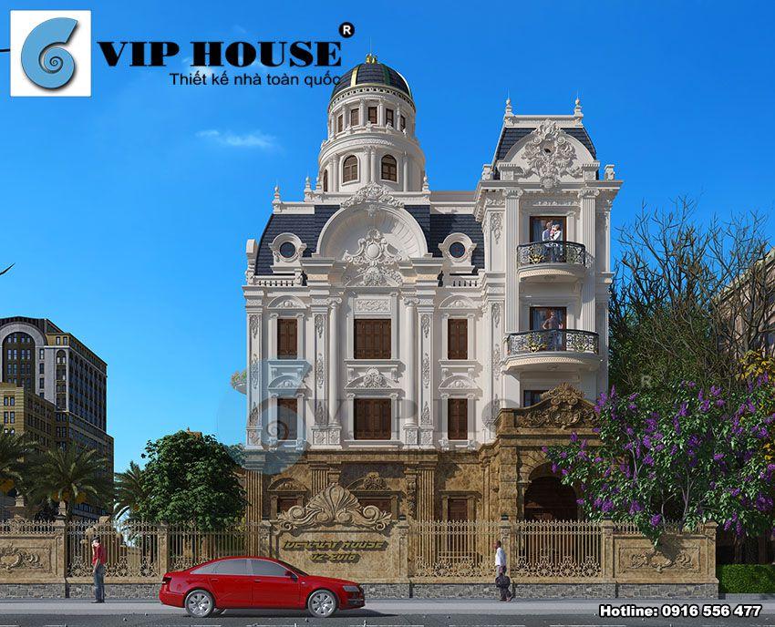 Biệt thự cổ điển kiểu Pháp hiện diện uy nghi trong khu vực