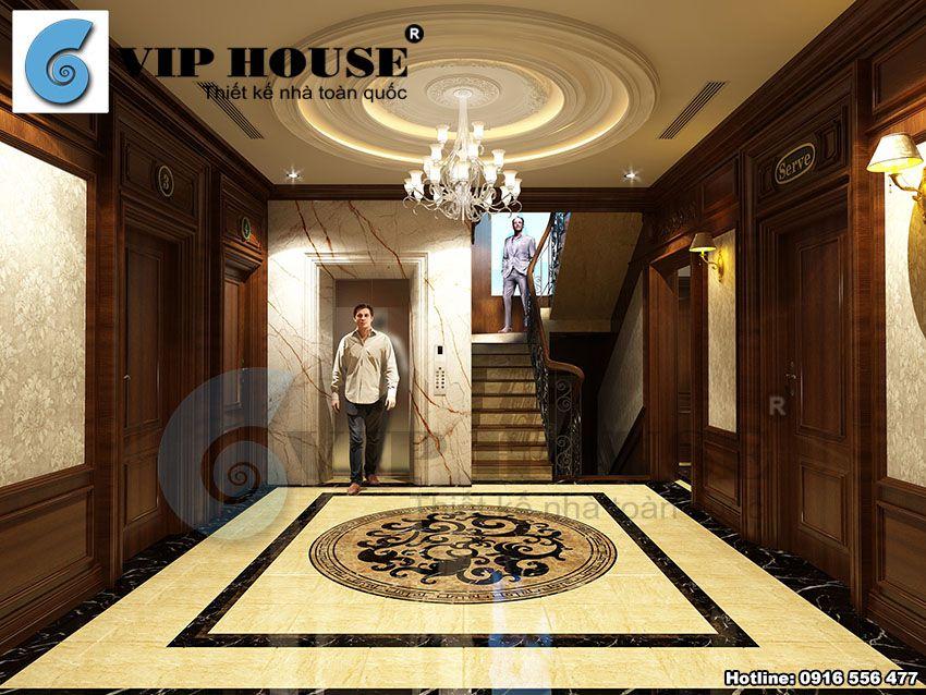 Thiết kế nội thất biệt thự phố 2 mặt tiền kết hợp kinh doanh