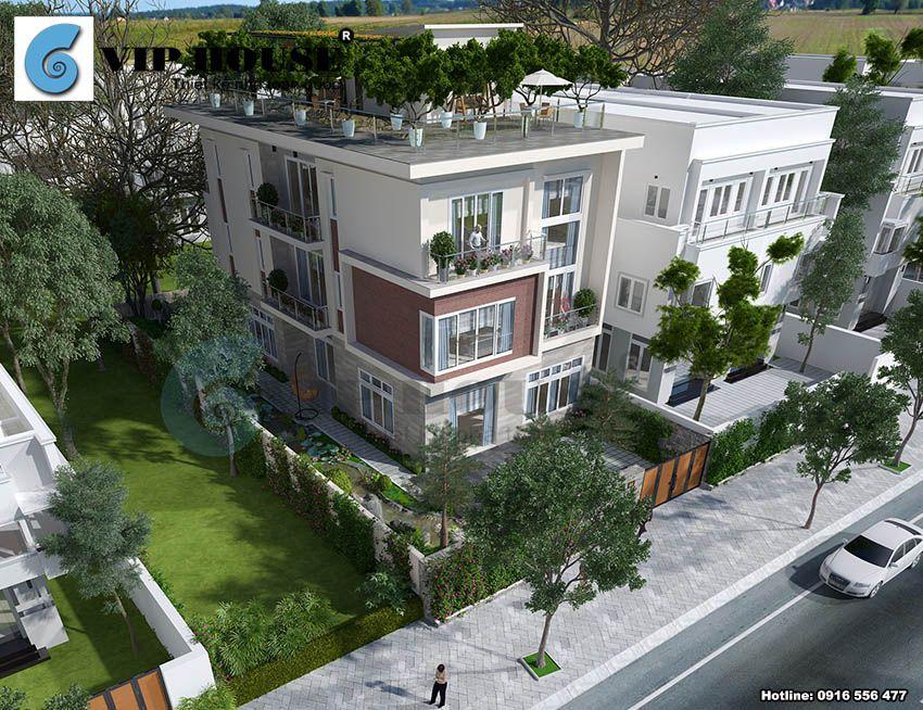 Biệt thự hiện đại 3 tầng tại đô thị Ciputra