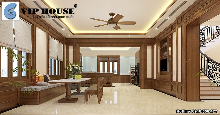 Thiết kế nội thất hiện đại biệt thự 2 tầng tại Phú Thọ
