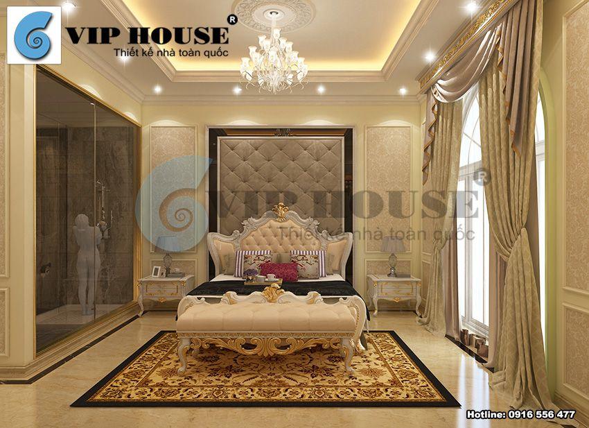 Mẫu nội thất tân cổ điển biệt thự kiểu Pháp đẹp mãn nhãn