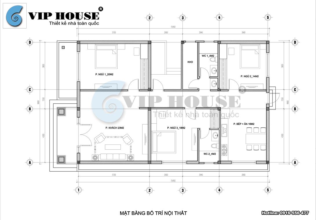 Tư vấn thiết kế biệt thự nhà vườn 1 tầng tại Gia Lâm - Hà Nội