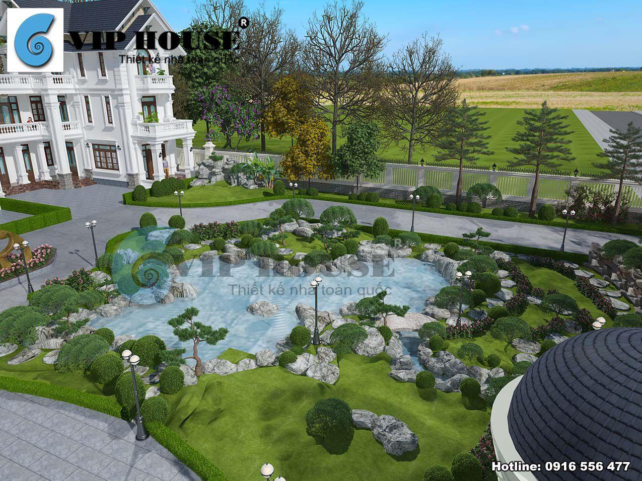 Sân vườn tiểu cảnh chung