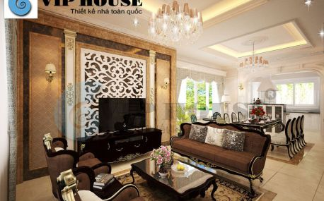 Cách thiết kế phòng khách, bếp liên thông đẹp và sang