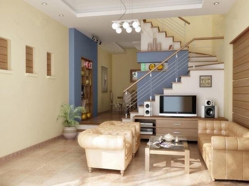 Cách khắc phục phong thủy xấu cầu thang giữa nhà