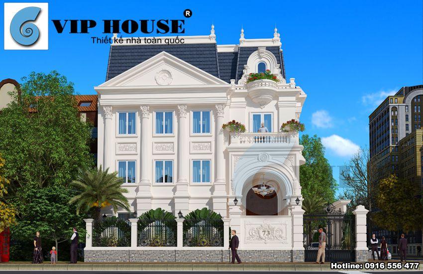 Thiết kế biệt thự kiến trúc tân cổ điển Pháp tại Hòa Bình