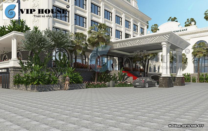Mẫu khách sạn, nhà hàng tiệc cưới 4 sao tại Sơn La