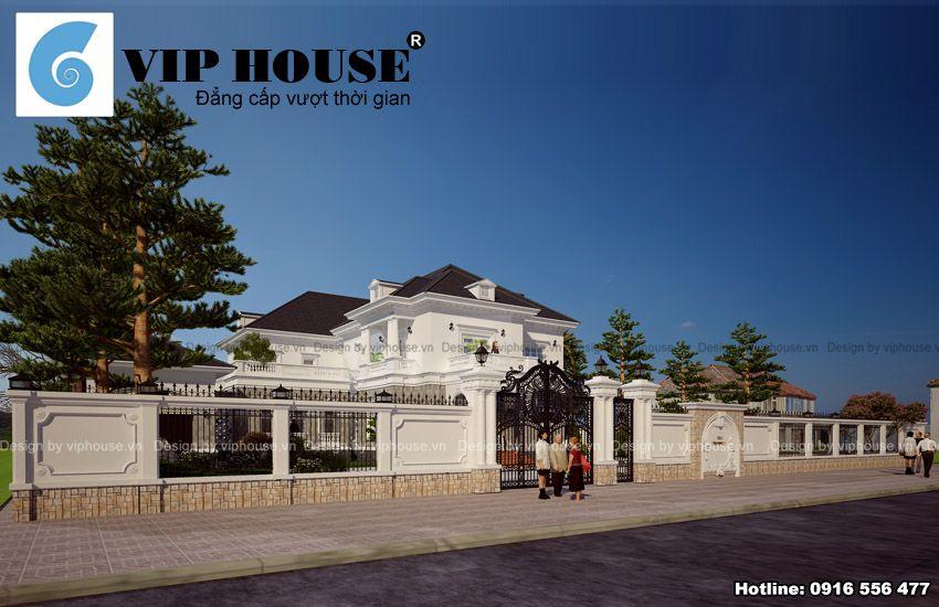 Thiết kế biệt thự 2 tầng kiến trúc Pháp tại Quảng Ninh