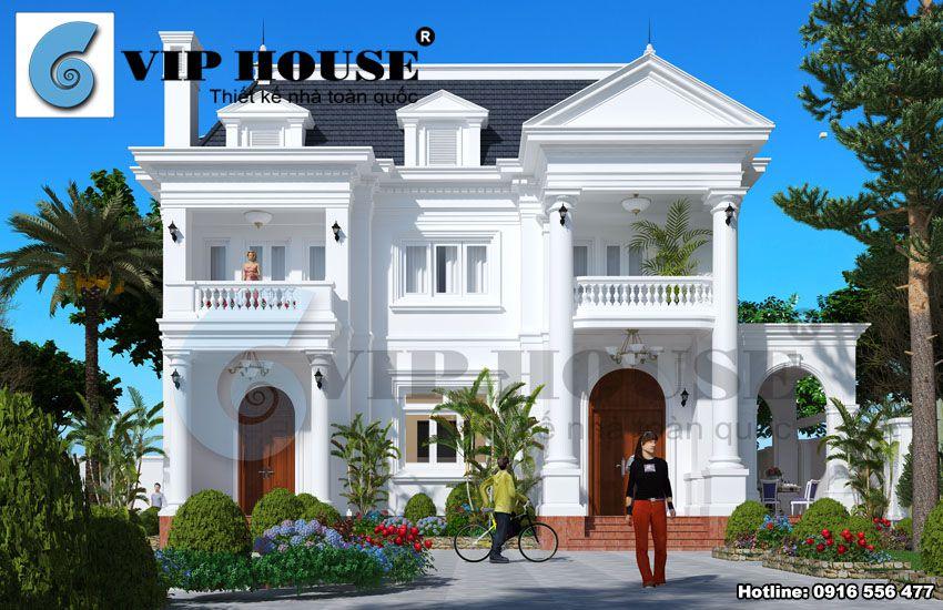 Vẻ đẹp bề thế duyên dáng của ngôi biệt thự kiểu Pháp