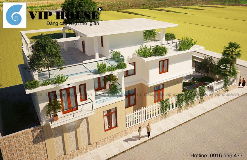Thiết kế biệt thự 2 tầng đẹp và hiện đại