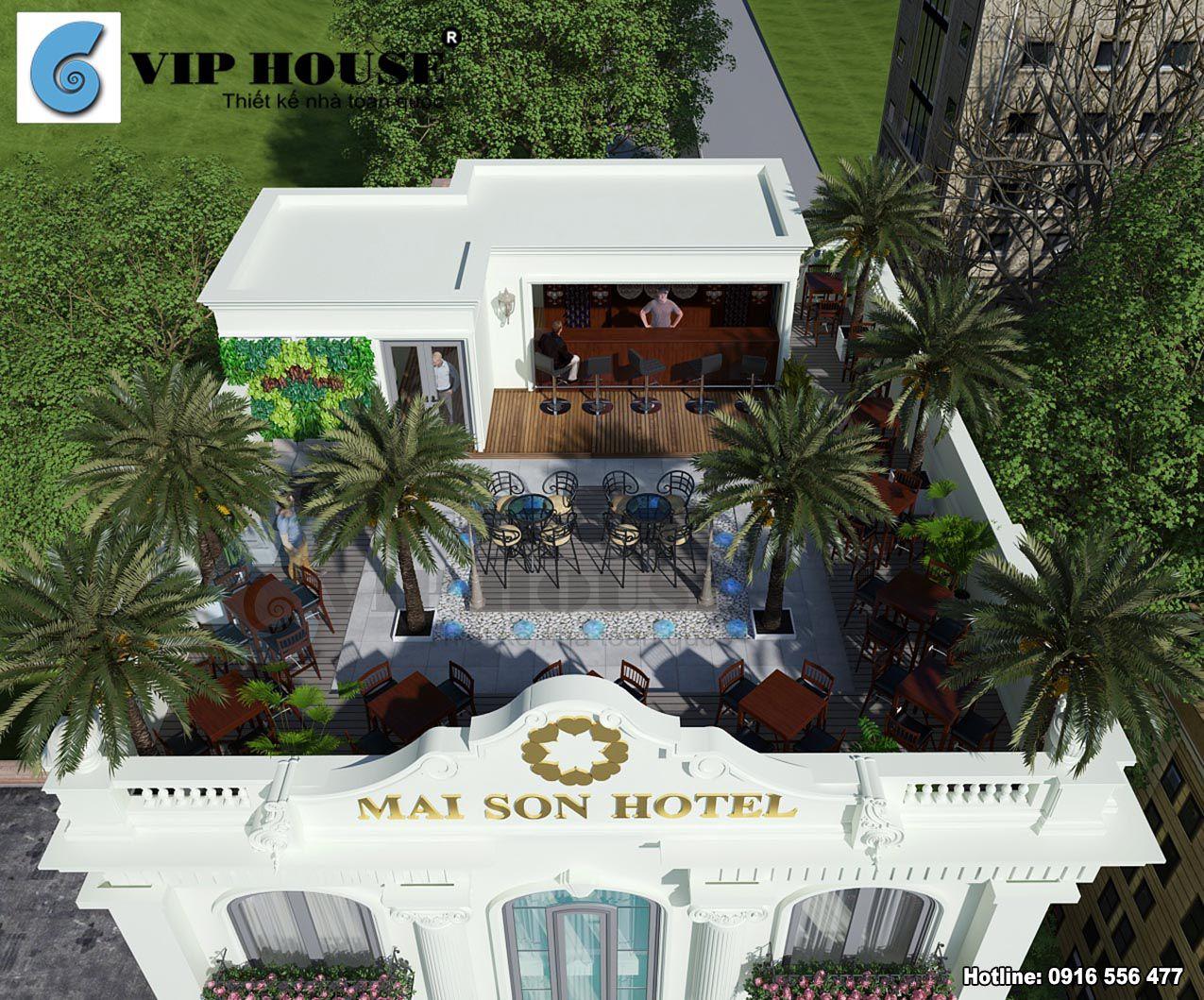 Thiết kế khách sạn tân cổ điển 2 mặt tiền tại Quy Nhơn