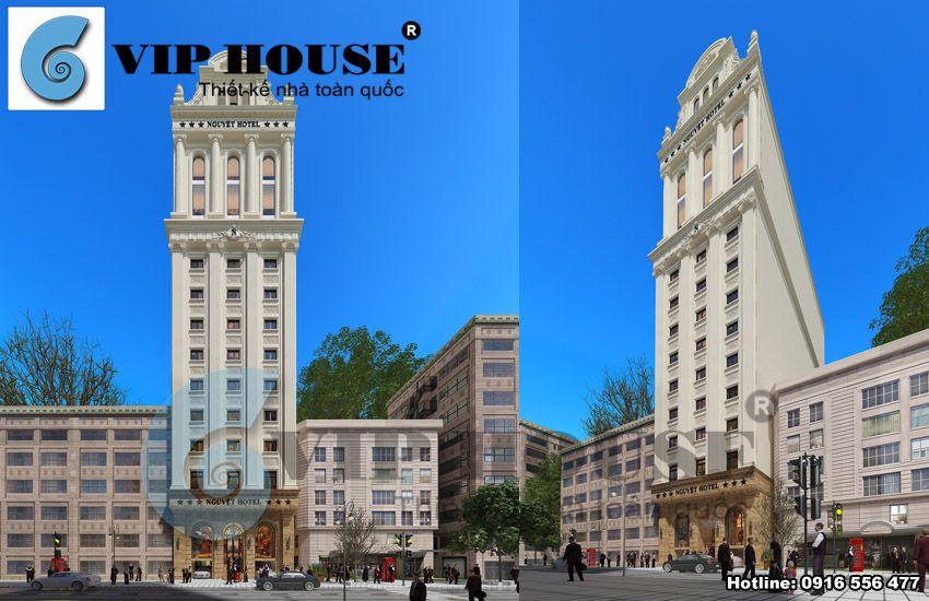 Kiến trúc khách sạn cổ điển được lên ý tưởng từ tổng thể đến chi tiết