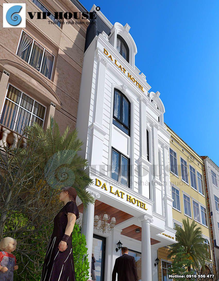 Khách sạn tráng lệ với tone màu trắng làm chủ đạ