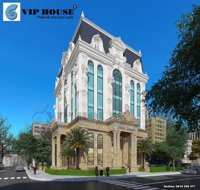 Thiết kế khách sạn cổ điển 6 tầng tại Quảng Ninh