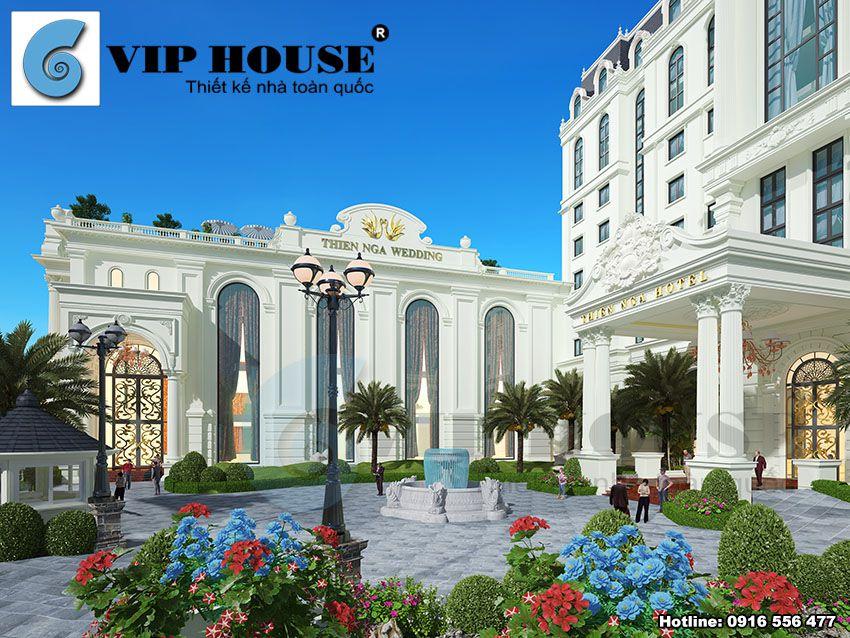 Thiết kế khách sạn nhà hàng tiệc cưới 4 sao tại Lào Cai - VH KS MS13