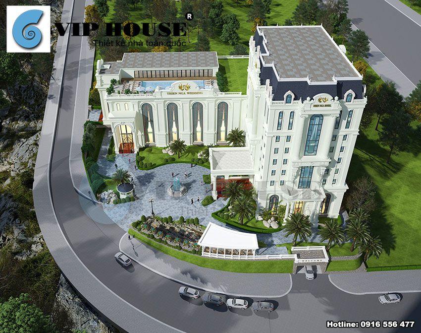 Phối cảnh tổng thể công trình với view nhìn toàn cảnh từ trên cao