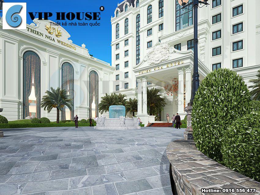 Thiết kế khách sạn nhà hàng tiệc cưới 4 sao tại Lào Cai