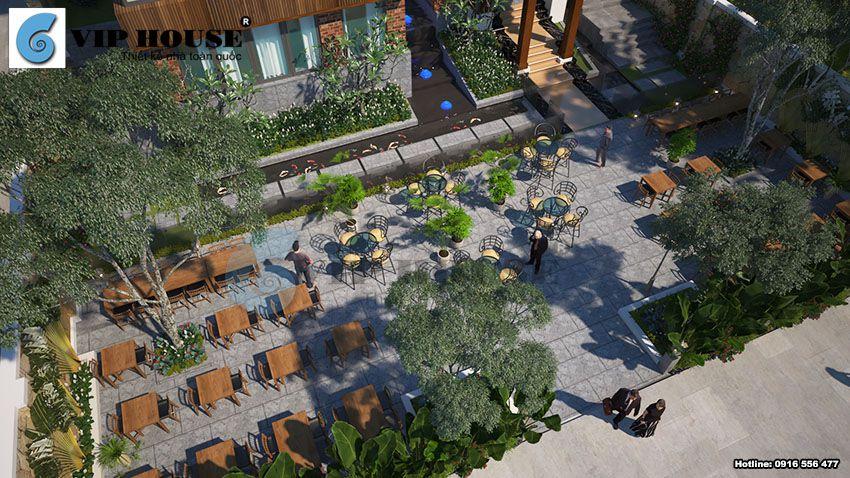 Cảnh quan sân vườn được chú trọng trong thiết kế
