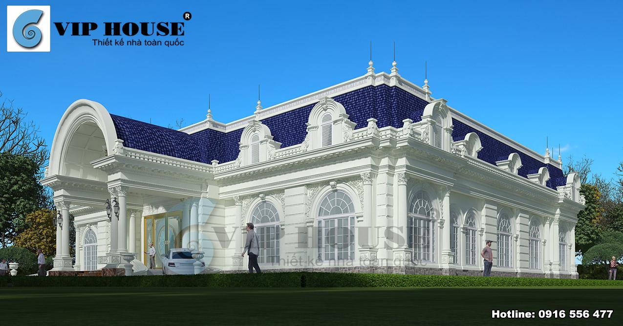 Bản vẽ kiến trúc tổng thể đẹp mãn nhãn của ngôi biệt thự
