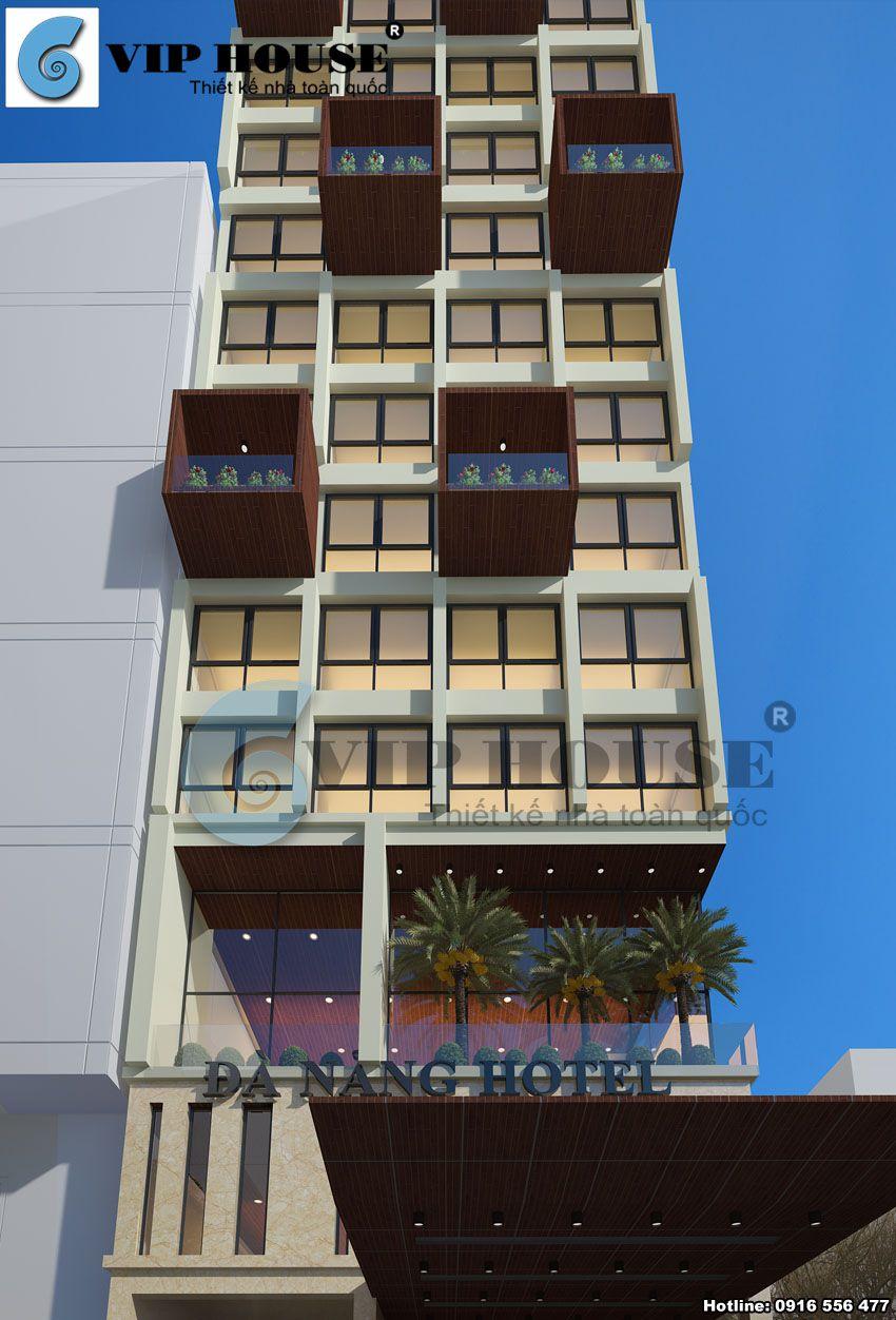 Tỷ lệ và màu sắc tạo lên sự khác biệt cho kiến trúc khách sạn này