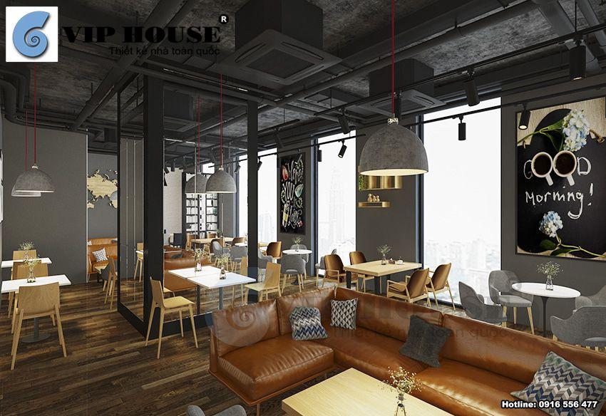 Thiết kế nội thất quán Cafe 2 tầng hiện đại ấn tượng tại Hà Nội