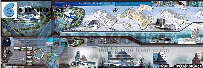 Phối cảnh 2D của công trình khách sạn