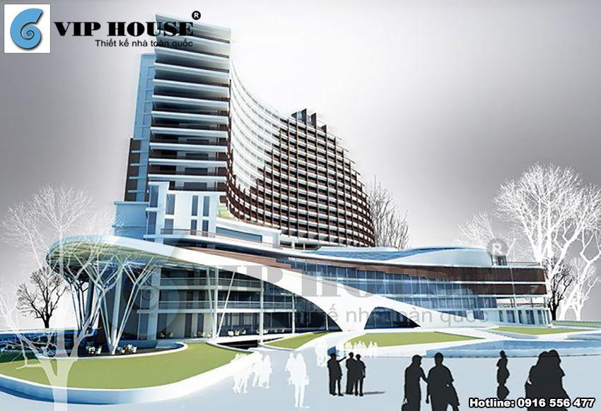 Phối cảnh góc kiến trúc khách sạn 3 sao